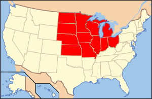 Map of the Midwest