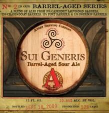 Avery Sui Generis - Barrel Aged Sour Ale