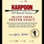 Harpoon 100 Barrel Series #30 – Island Creek Oyster Stout
