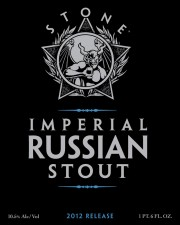 2012 Stone Imperial Russian Stout (Front Label)