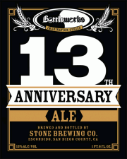 Stone Bottleworks 13th Anniversary Ale