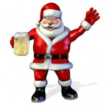 Santa With a Beer