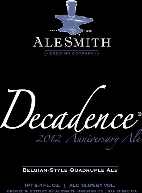 Alesmith Decadence 2012