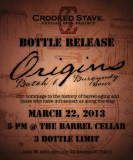 Crooked Stave - Origins Bottle Release