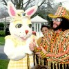 Macho Man Randy Savage and Easter Bunny