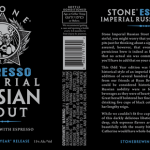 Stone Brewing Realeasing 2013 Imperial Russian Stout and ESPRESSO Imperial Russian Stout on 4/15