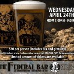 Stone Brewing Beer Dinner At The Federal Bar April 24th