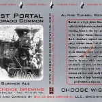 Big Choice Brewing Announces Newest Can: West Portal Colorado Common Summer Ale