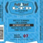 Full Sail Releases LTD 07 Oktoberfest Lager