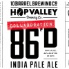 10 Barrel 86D IPA label
