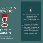 Grassroots Arctic Saison