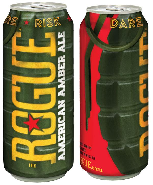 Rogue American Amber Ale 16oz Grenade Cans • thefullpint.com