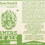 Three Notch'd Brewing 10* Farmers Pale Ale Bottle Release
