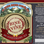 Bine & Vine 3rd Anniversary Ale, Brewed By Alpine Beer Company