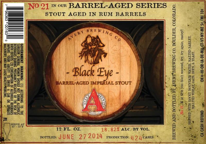 Avery Brewing - Black Eye Rum Barrel-Aged Stout