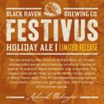 Black Raven Brewing Releases Festivus on November 8, 2014