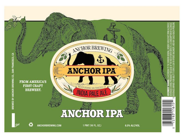 Anchor Brewing Anchor IPA Can Label