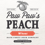 Back Forty Paw Paw's Peach Wheat Returns for Spring