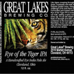 Great Lakes Brewing Rye of the Tiger Rye IPA Returns