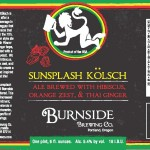 Burnside Brewing Introduces Sunsplash Kölsch