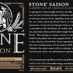 Stone Brewing Co. –  Stone Saison Returns For The Summer