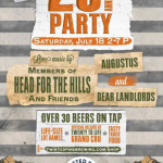 Twisted Pine Brewing 20th Anniversary Party – July 18, 2015