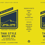 Upslope Brewing Releases Limited Thai Style White IPA