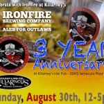Ironfire Brewing 3rd Anniversary Celebration THIS SUNDAY