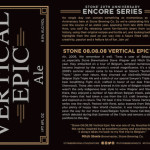 Stone 08.08.08 Vertical Epic Ale Kicks Off Stone 20th Anniversary Encore Series