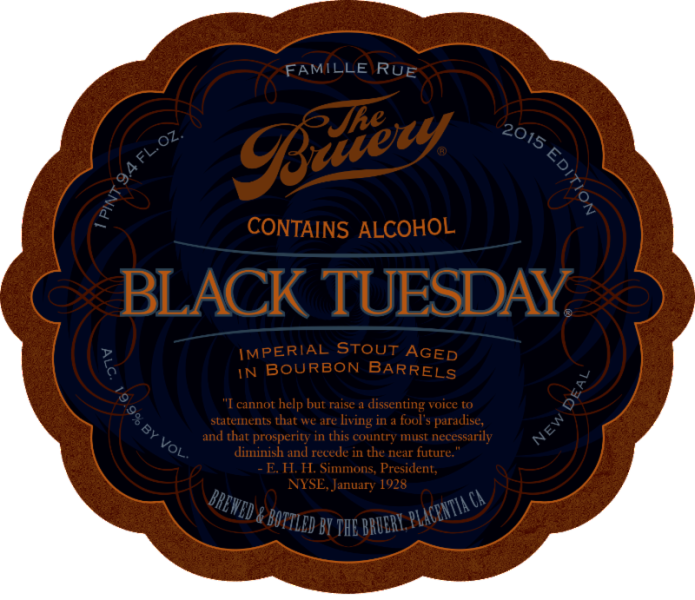 The Bruery Black Tuesday 2015 Label