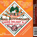 Pike Brewing Auld Acquaintance & Wood Aged Tandem 2015 Details
