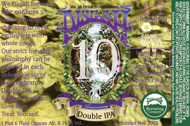 Pisgah Double IPA Label