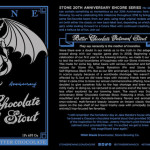Stone 12th Anniversary Bitter Chocolate Oatmeal Stout Makes Grand Return