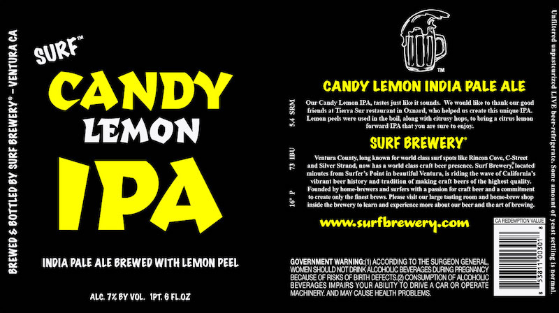 Surf Candy Lemon IPA