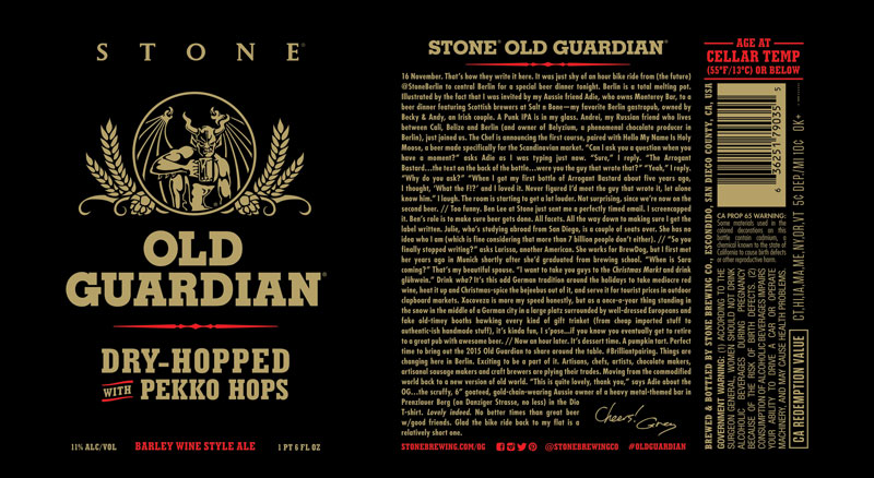 2016 Stone Old Guardian