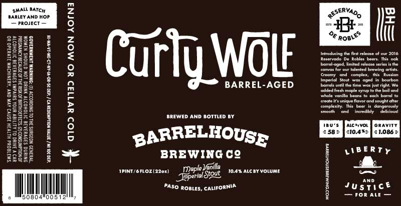 BarrelHouse 2016 Curly Wolf