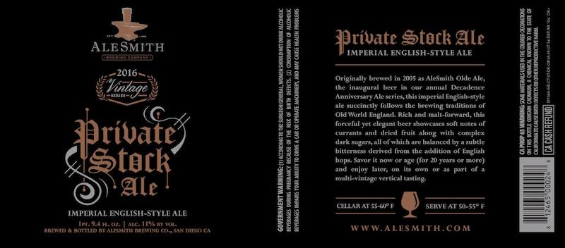 AleSmith Private Stock Ale 2016