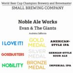 Noble Ale Works Brings Home the Gold from 2016 World Beer Cup