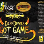 Hoppin' Frog Cigar City Collab DareDevils Got Game Release This Saturday!