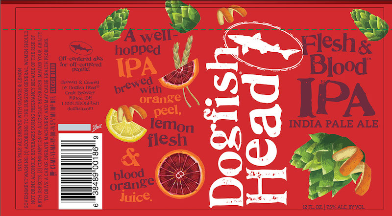 Dogfish Head Flesh and Blood Cans