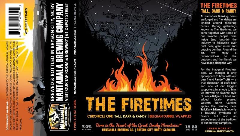 Nantahala Brewing - The Firetimes - Tall, Dark & Randy
