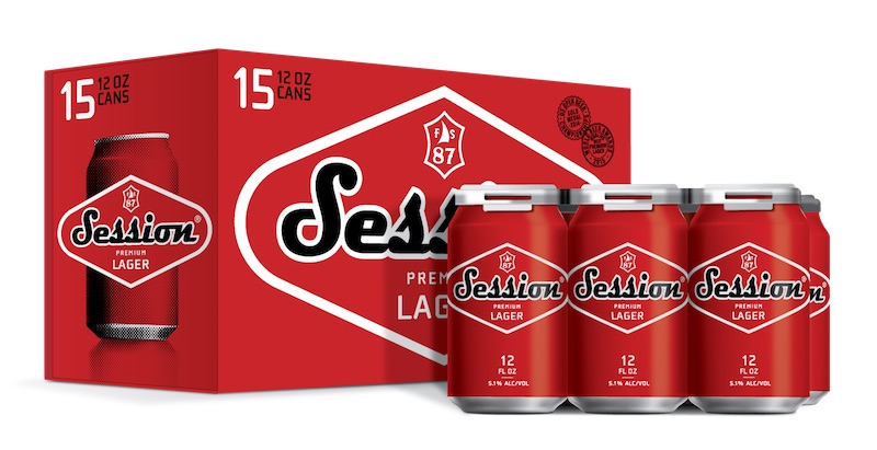Session Lager 15 pack cans