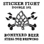 Boneyard Beer & Steel Toe Brewing Collab On Sticker Fight Double IPA