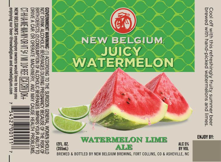 New Belgium Juicy Watermelon Bottle Label