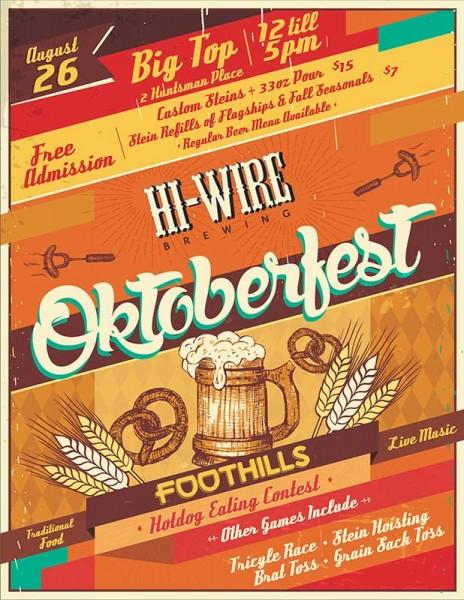 Hi-Wire Brewing - Oktoberfest Poster 2017