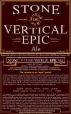 Review – Stone 08.08.08 Vertical Epic Ale