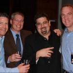 Wachusett President and Founder Ned LaFortune, Ipswich Brewery Founder Rob Martin, Cisco Brewers Sales Manager Matt Lambo and Harpoon President Dan Kenary