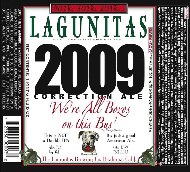 Lagunitas 2009 Correction Ale