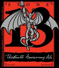 Stone 13th Anniversary Ale Front Label