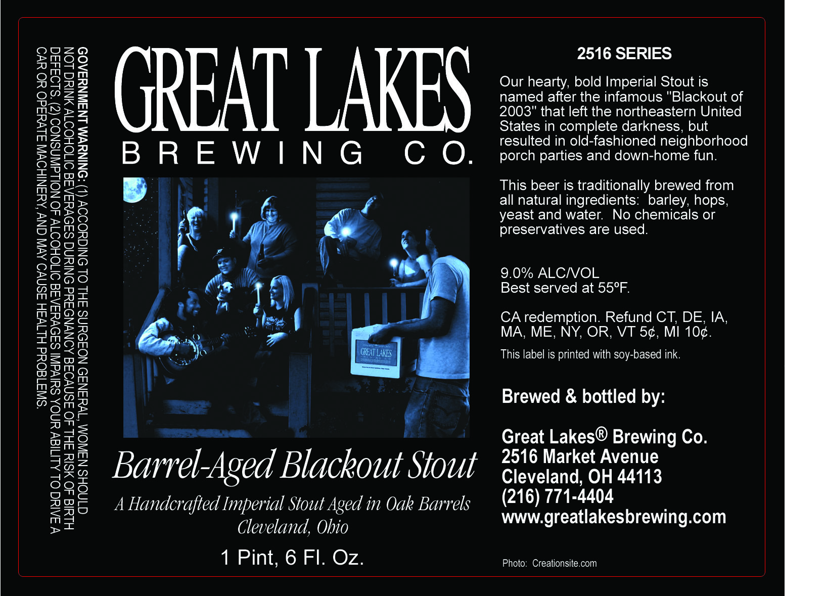 Great Lakes Barrel Aged Blackout Stout